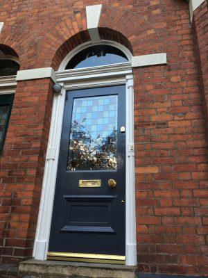 Victorian Front Door Didsbury Encapsulated Glass