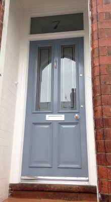 Victorian Front Door with etched glass
